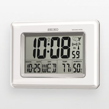 Seiko R-Wave Atomic Digital Clock - QHR020WLH