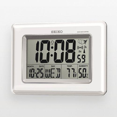 Seiko R-Wave Atomic Digital Clock - QHR020WLH