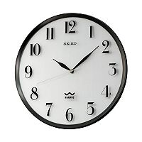 Seiko R-Wave Atomic Black Wall Clock - QXR131SLH