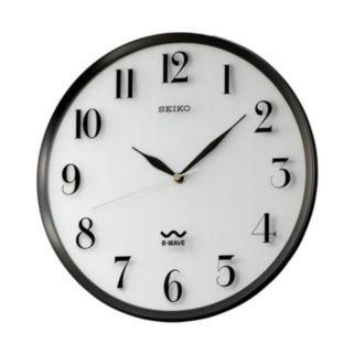 Seiko R-Wave Atomic Black Wall Clock - QXR131SLH