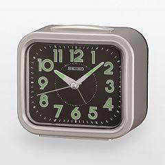 Seiko Silver Tone Alarm Clock - QHK023SLH