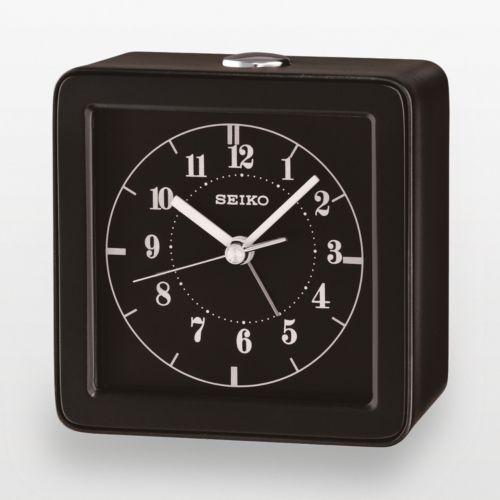 Seiko Black Alarm Clock - QHE082JLH