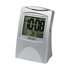 Seiko Get Up & Glow Digital Travel Bedside Alarm Clock - QHL005SLH