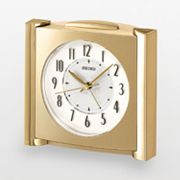 Seiko Get Up and Glow Gold Tone Alarm Clock - QXE418GLH