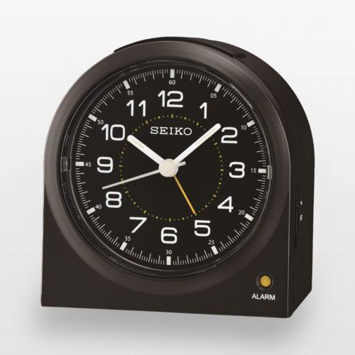 Seiko Black Alarm Clock - QHE085KLH