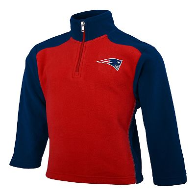 New England Patriots 1/4-Zip Microfleece Jacket - Boys 4-7
