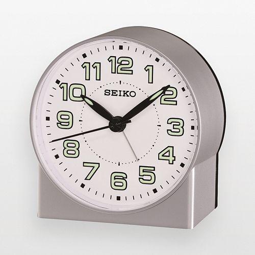 Seiko Silver Tone Alarm Clock - QHE084SLH