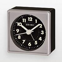 Seiko Black & Silver Tone Alarm Clock - QHE083SLH