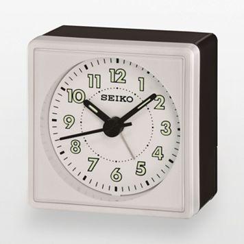 Seiko Black & Silver Tone Alarm Clock - QHE083WLH