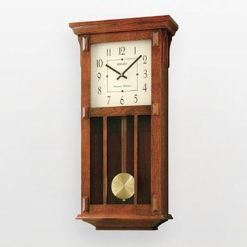 Seiko Wood Pendulum Wall Clock - QXH045BLH