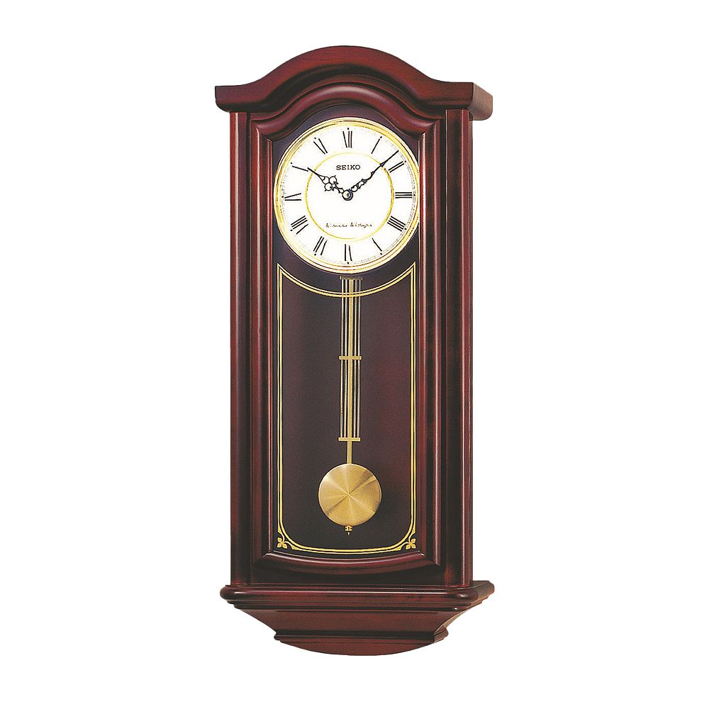 Wood pendulum wall clock qxh118blh seiko wood pendulum wall clock qxh118blh amipublicfo Choice Image