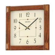 Seiko Wood Square Wall Clock - QXA469BLH