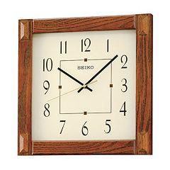 Seiko Wood Square Wall Clock - QXA469BLH