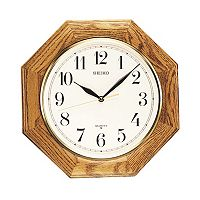 Seiko Oak Octagon Wall Clock - QXA102BC
