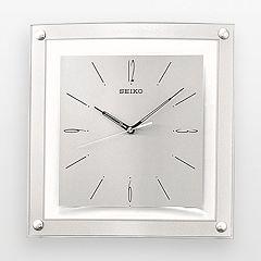 Seiko Silver Tone Square Wall Clock - QXA330SLH
