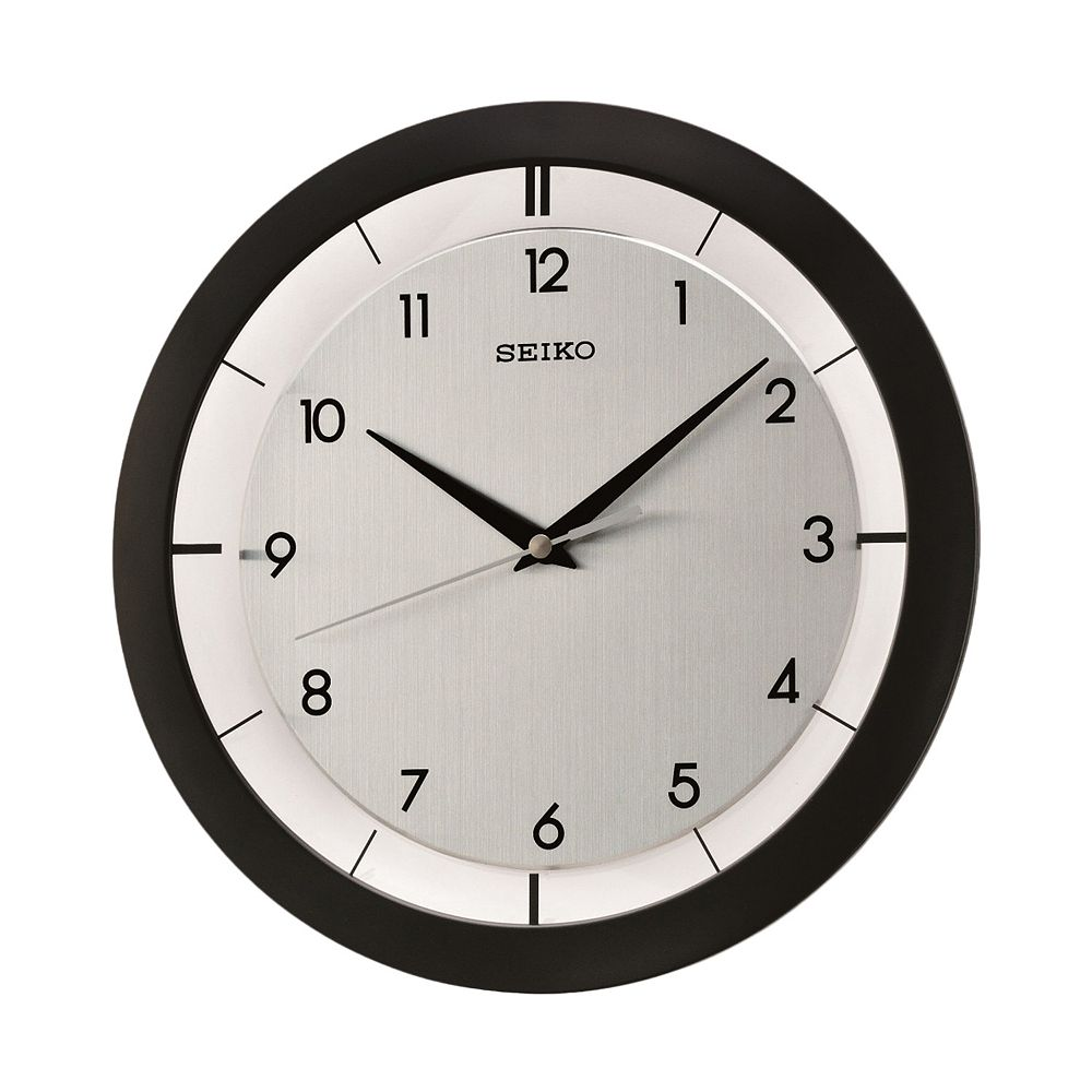 Seiko Black Wall Clock   QXA520KLH. Black Wall Clock   QXA520KLH