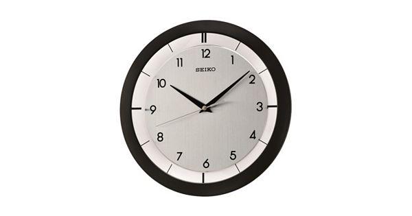 Seiko Black Wall Clock Qxa520klh