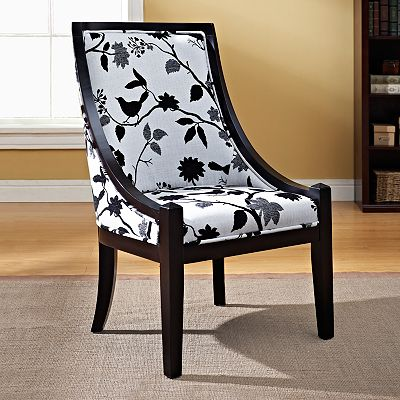 Sarah Floral Side Accent Chair