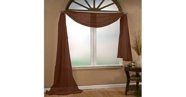 Vcny Infinity Sheer Window Scarf 54 X 216