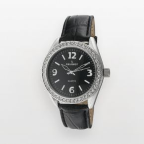 Peugeot Women's Crystal Leather Watch - 3006BK