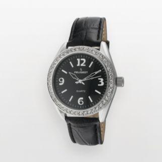 Peugeot Women's Crystal Leather Watch - 3006BK