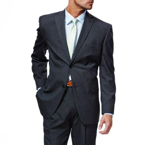 Haggar® Classic-Fit Charcoal Pinstripe Suit Jacket - Men