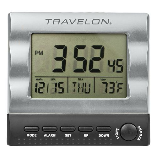 Travelon Travel Alarm Clock