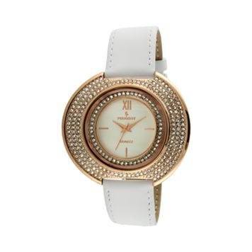Peugeot Women's Crystal Leather Watch - J6371RWT