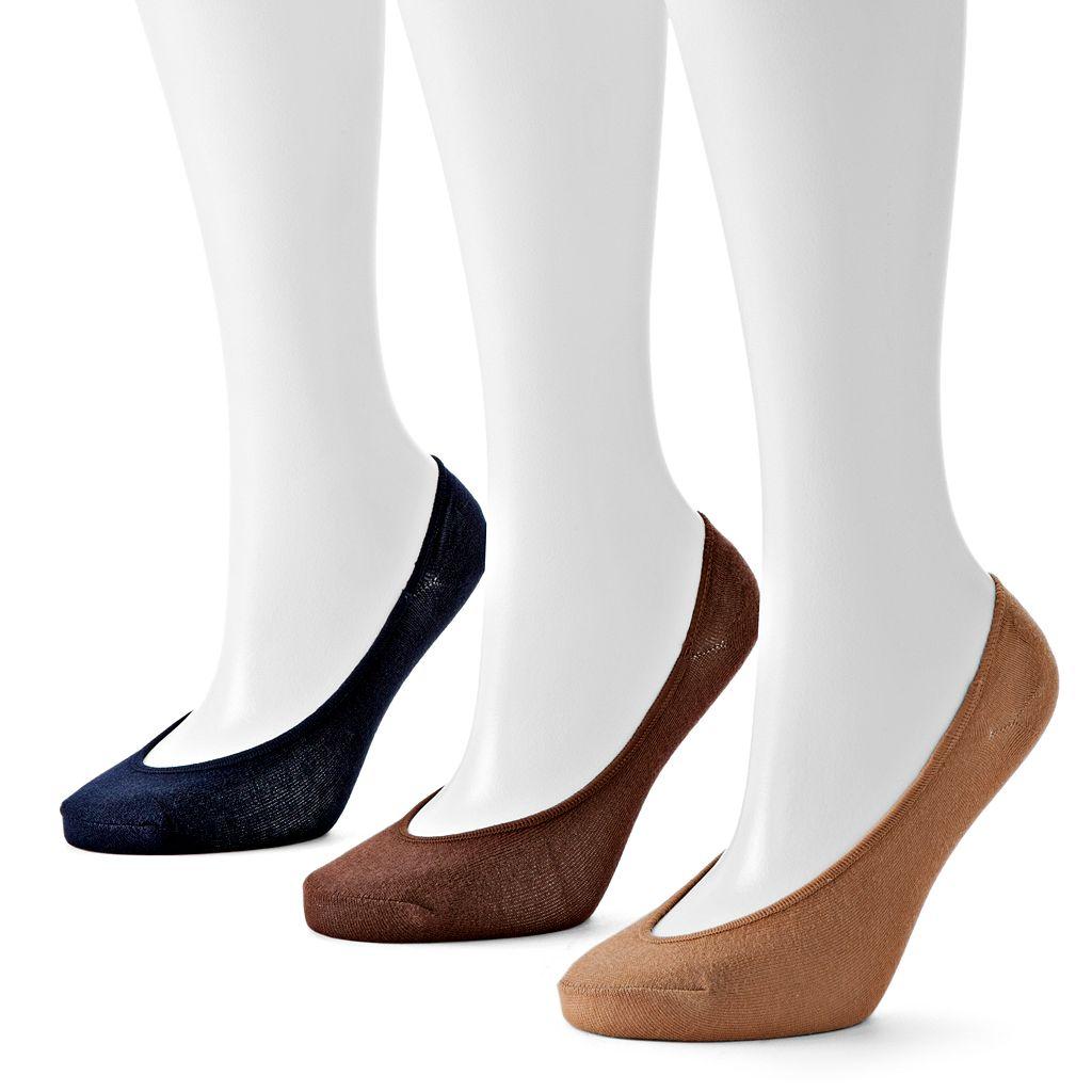 Apt. 9® 3-pk. Seamless No-Show Liner Socks