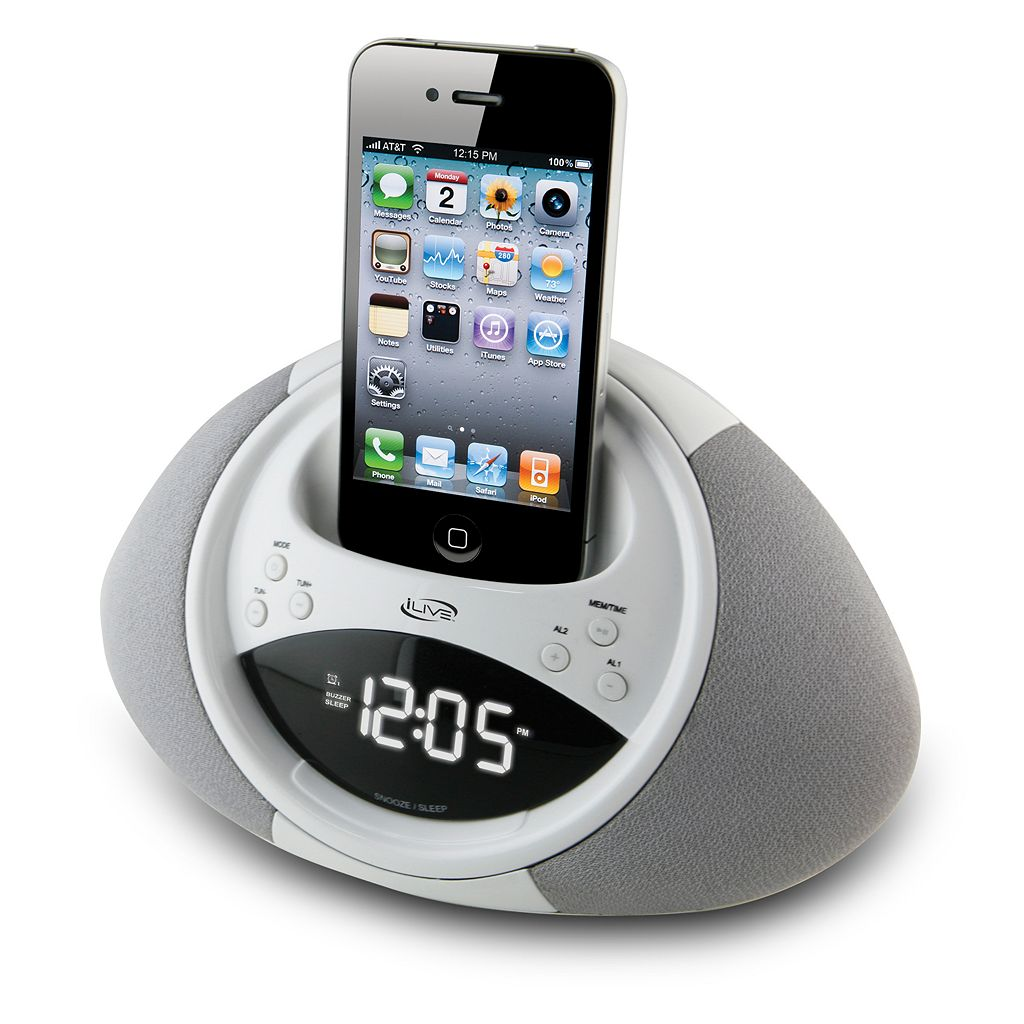 iLive Dual Alarm 30-Pin Clock Radio