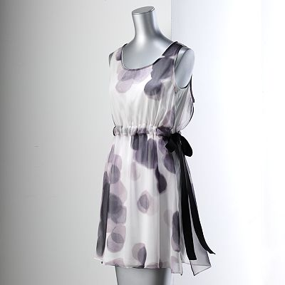 Simply Vera Vera Wang Dot Chiffon-Overlay Dress