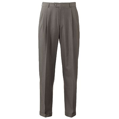 Haggar Custom-Fit Striped Pleated Suit Pants