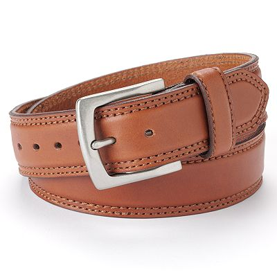 Eddie Bauer Stitched Leather Belt