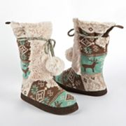 MUK LUKS Jewel Highland Nordic Bootie Slippers