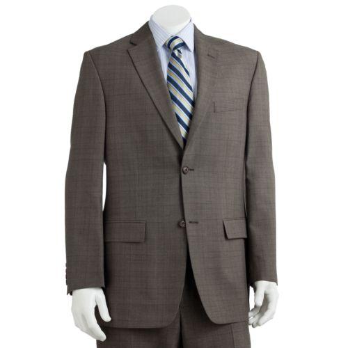 Haggar® Classic-Fit Chocolate Plaid Suit Jacket - Men