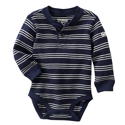OshKosh B'gosh Striped Thermal Bodysuit - Baby