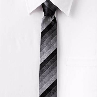 Marc Anthony Ombre Striped Skinny Tie
