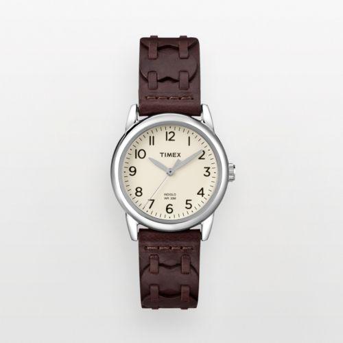 Timex Weekender Silver Tone Woven Leather Watch - T2N902KY - Women