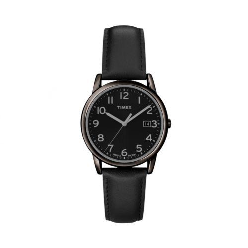Timex Gunmetal Leather Watch - T2N947KZ - Men