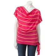 Apt. 9 Striped Drapeneck Dolman Top - Petite