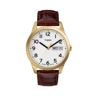 Timex Men's Leather Watch - T2N065KZ