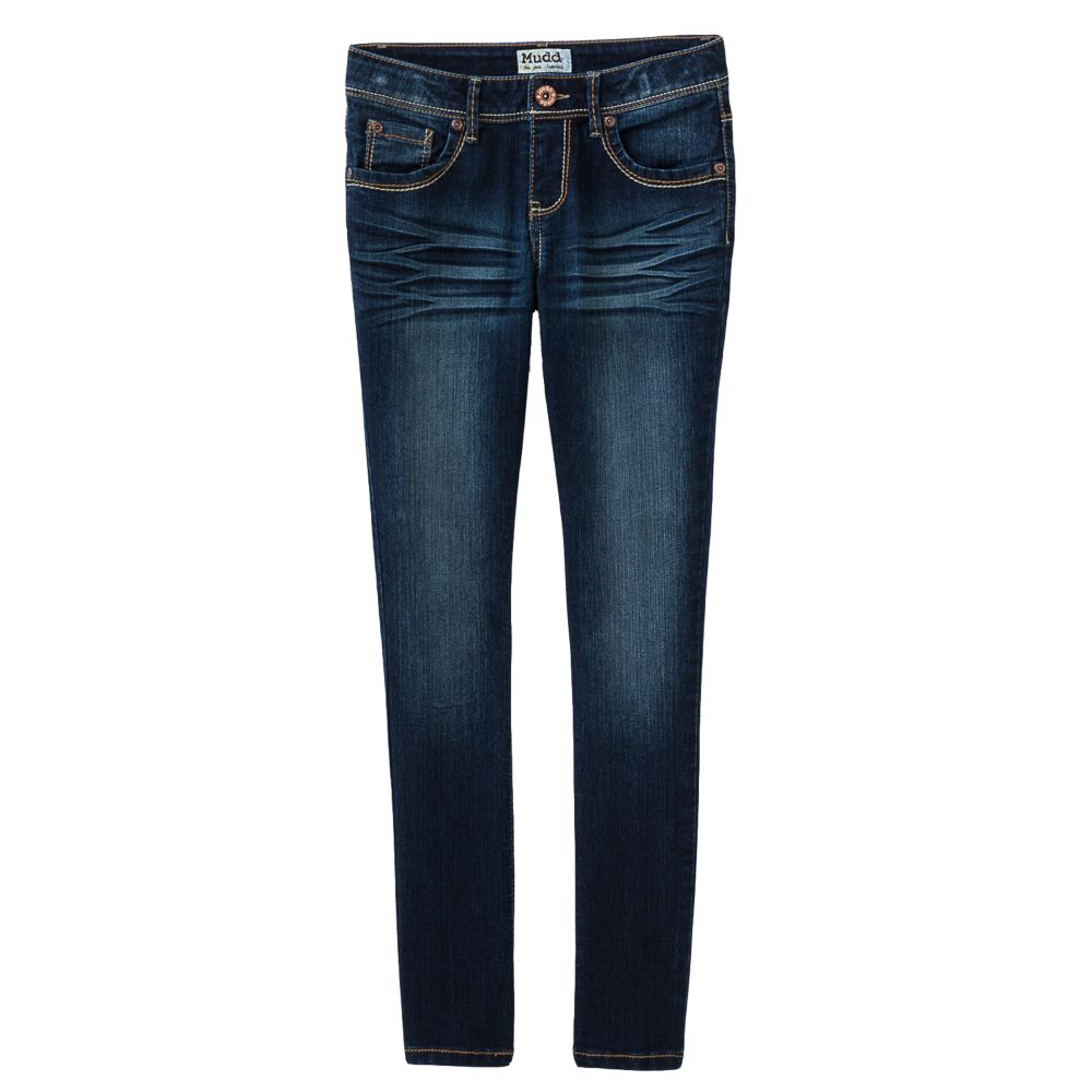 7-16 & plus size mudd® embroidered skinny jeans