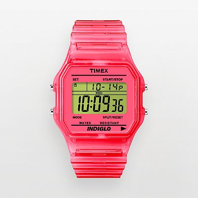 Timex Pink Digital Chronograph Watch - T2N805KZ