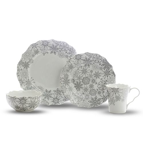 222 Fifth Snow Flurry 16-Pc. Dinnerware Set $ 121.60