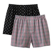 Croft and Barrow 2-pk. Skull Woven Boxers