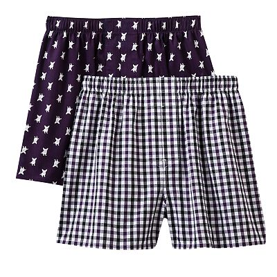 Croft and Barrow 2-pk. Dog Woven Boxers
