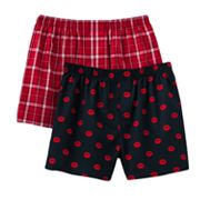 Croft and Barrow 2-pk. Kisses Woven Boxers