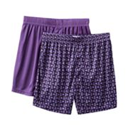 Croft and Barrow 2-pk. Geometric Microfiber Boxers