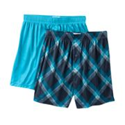 Croft and Barrow 2-pk. Grid Microfiber Boxers