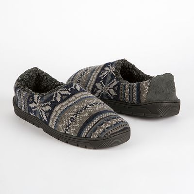 MUK LUKS John Fairisle Full-Foot Slippers
